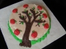 Apple Tree Cake.... yes, it's apple cake inside with a cinnamon buttercream icing.