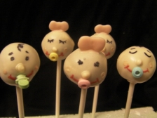 "Cute baby pops for baby showers or give a ""bouquet"" to a new mom."