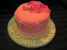 Baby Shower Cake. Very Vanilla with fondant covering and embellishments.