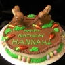 Chocolate bunny cake. This one is gluten-free!