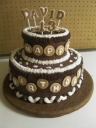 Tier Cakes always look dramatic, especially when they are chocolate wonders!