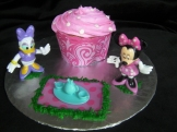 "Fun ""smasher"" cupcake for a one year old plus Disney playset. Dessert and gift all in one!"