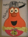 The Supper Hero - Jimmy the Gourd from the Veggie Tales gang.