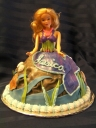 This cake can also be done as a traditional ball gown doll cake.