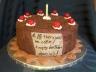 """Portal"" chocolate cake."