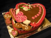 Gingerbread heart box. Fill it with gingerbread cookies, truffles, chocolates or your favourite candies!