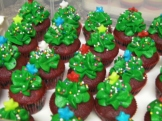Christmas Trees on Red Velvet minis