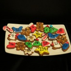 Advent gingerbread cookies
