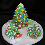 A delicious gingerbread forest