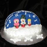 Singing Snowpeople capture the festivity of the season