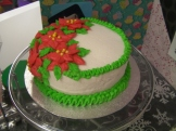 Poinsettia Cake - buttercream icing