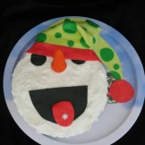 This delicious snowman will delight at any Winter get-together.