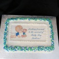 Baby shower cakes made personal and spectacular by adding an edible image