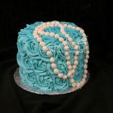 Tiffany pearls baby smash cake