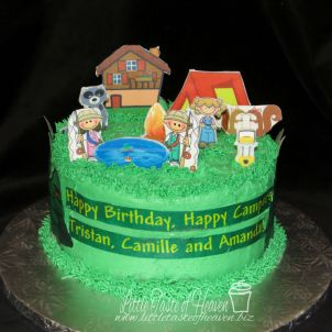 Stand-up edible images