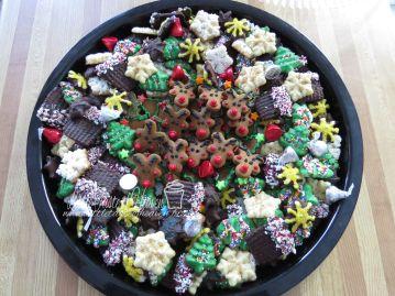 Spritz cookies, gingerbread reindeers