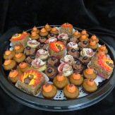 Pumpkin mini cupcakes, apple cake, apple roses