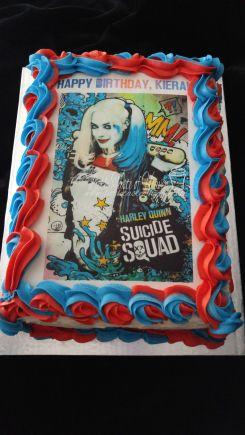 Harley Quinn edible image