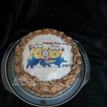 Minions Happy New Year edible image