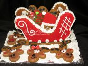 Santa's sleigh and gingerbread cookies
