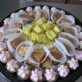 Lemon fudge, s'mores bars, strawberry mini cupcakes